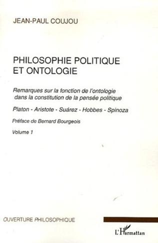 Couverture Philosophie politique et ontologie 1