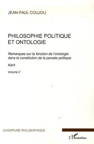 Couverture Philosophie politique et ontologie 2