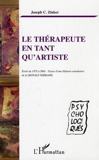 Couverture Le thérapeute en tant qu'artiste