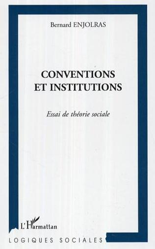 Couverture Conventions et institutions
