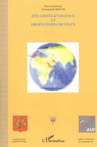 Couverture Situations d'urgence et droit fondamentaux