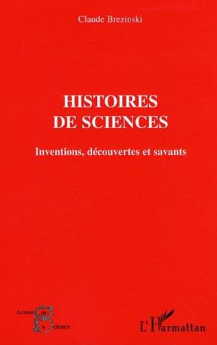 Couverture Histoires de sciences