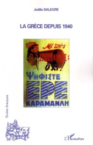 Couverture La Grèce depuis 1940