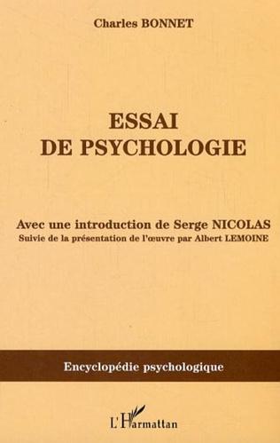 Couverture Essai de psychologie