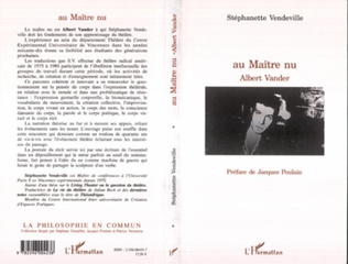 Couverture Au Maître nu, Albert Vander