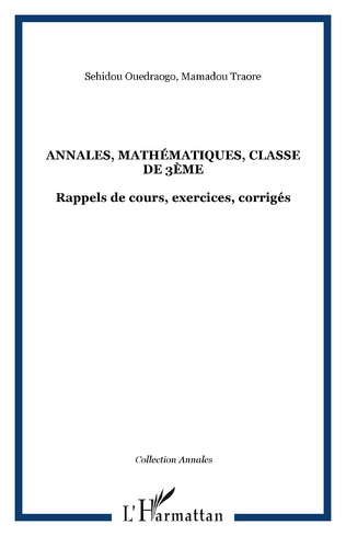 Couverture Annales, mathématiques, classe de 3ème