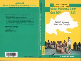 Couverture Annales, sciences de la vie et de la terre, classe de 3ème (S.V.T.)
