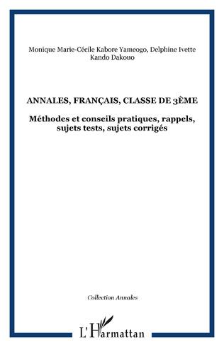 Annales Francais Classe De 3eme Methodes Et Conseils