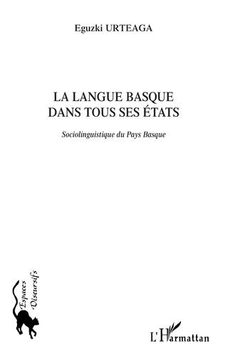 Couverture La langue basque dans tous ses états