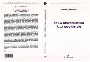 Couverture De la distribution à la cognition