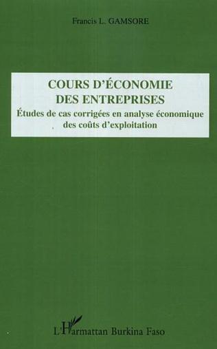 Couverture Cours d'économie des entreprises