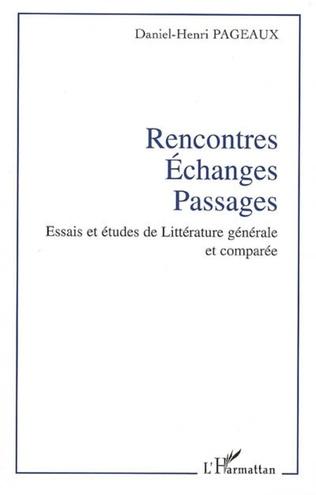 Couverture Rencontres - Echanges - Passages