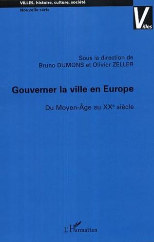 Couverture Gouverner la ville en Europe