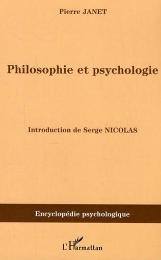Couverture Philosophie et psychologie