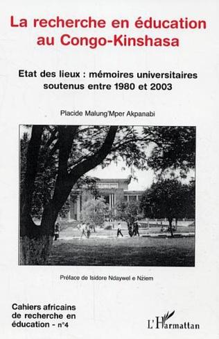 Couverture La recherche en éducation au Congo-Kinshasa