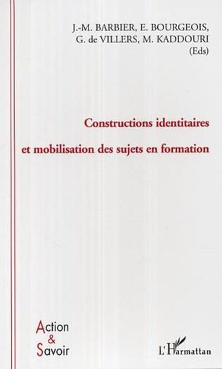 Couverture Constructions identitaires et mobilisation des sujets en formation