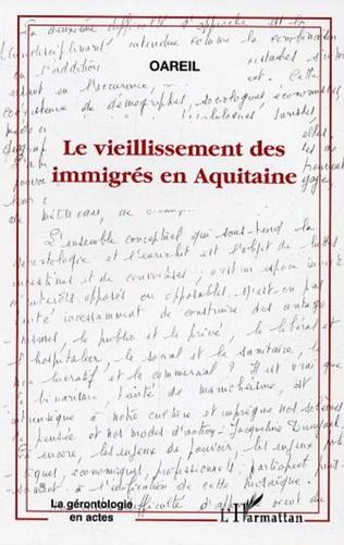 Couverture Le vieillissement des immigrés en Aquitaine