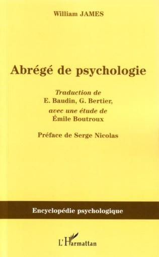 Couverture Abrégé de psychologie