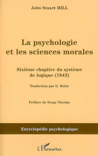 Couverture La psychologie et les sciences morales
