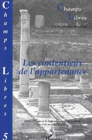 Couverture ApPARTENANCE ET INTERCOMMUNALITE