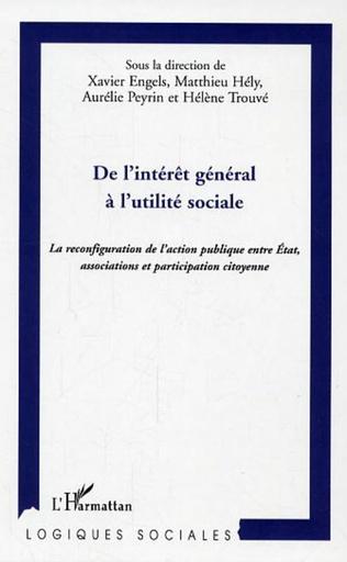 Couverture De l'intérêt général à l'utilité sociale