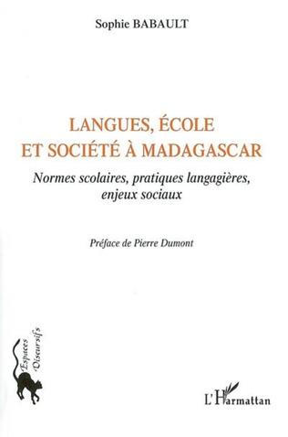Couverture Langues, école et société à Madagascar
