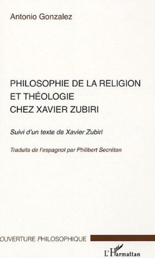 Couverture Philosophie de la religion et théologie chez Xavier Zubiri