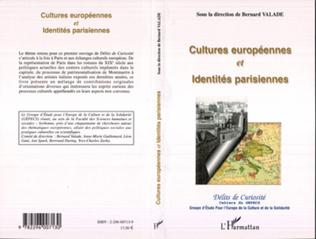 Couverture Cultures européennes et Identités parisiennes