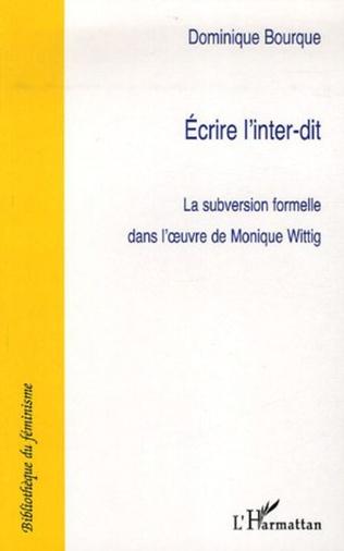 Couverture Ecrire l'inter-dit