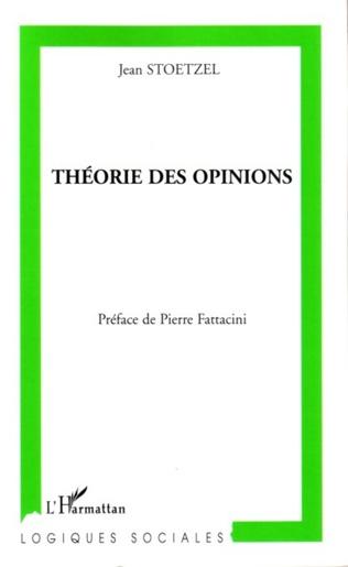 Couverture Théorie des opinions