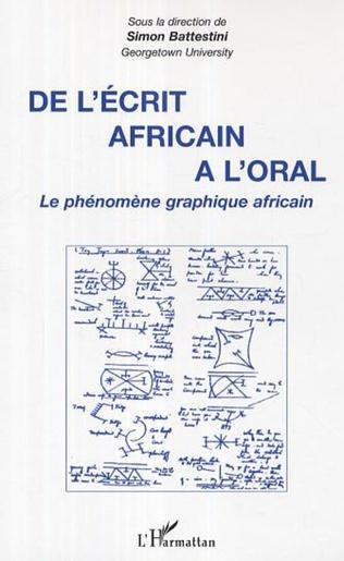 Couverture De l'écrit africain à l'oral