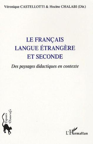 Couverture Le français langue étrangère et seconde