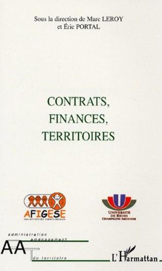 Couverture Contrats, finances, territoires