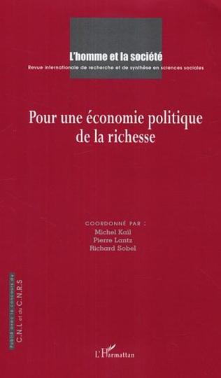 Couverture Pour une économie politique de la richesse