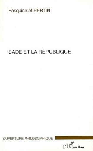 Couverture Sade et la république