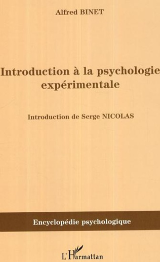 Couverture Introduction à la psychologie expérimentale