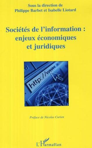 Couverture Sociétés de l'information: enjeux économiques et juridiques