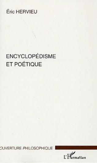 Couverture Encyclopédisme et poétique
