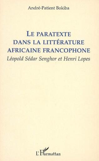 Couverture Le paratexte dans la littérature africaine francophone