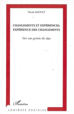 Couverture Changements et expériences, expérience des changements
