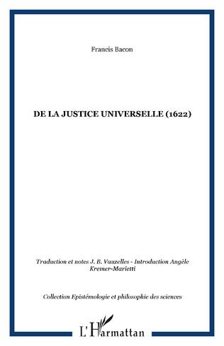 Couverture De la justice universelle (1622)