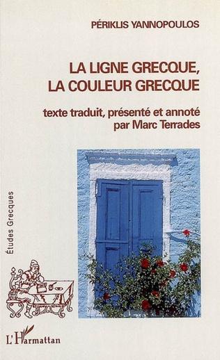 Couverture La ligne grecque, la couleur grecque