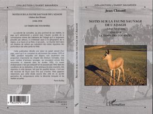 Couverture Notes sur la faune sauvage de l'Adagh (Adrar des Iforas)