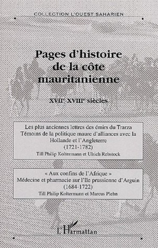 Couverture Pages d'histoire de la côte mauritanienne