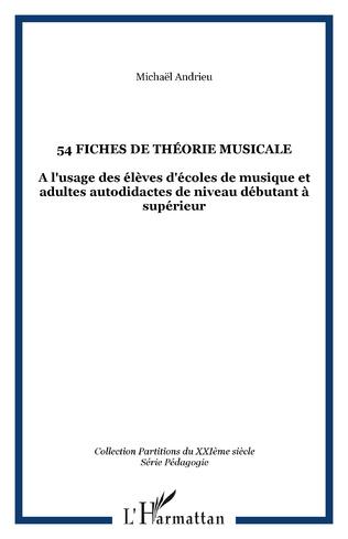 Couverture 54 fiches de théorie musicale