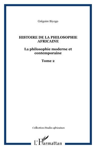Couverture Histoire de la philosophie africaine