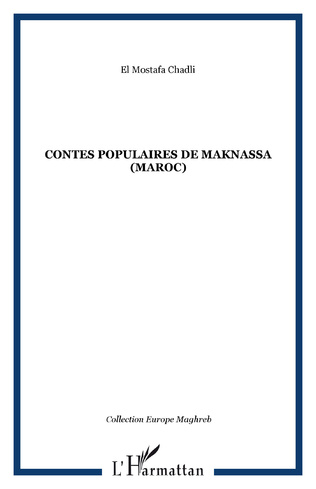 Couverture Contes populaires de Maknassa (Maroc)