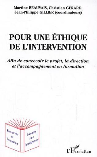 Couverture Pour une éthique de l'intervention