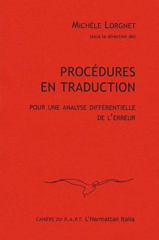 Couverture Procédures en traduction