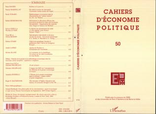 Couverture Cahiers d'économie politique n°50